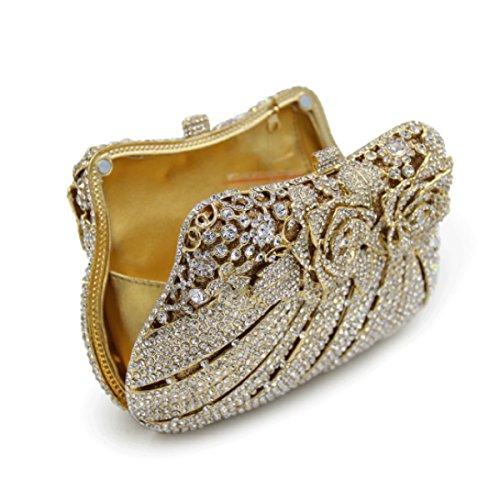 Frauen-High-End-Luxus-Abendtasche Diamant Bankett-Paket Gold