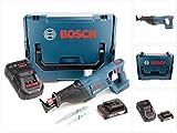 Bosch GSA 18 V-LI Professional 18 V Akku Säbelsäge in L-Boxx mit Ladegerät GAL 1880 und 1x GBA 2 Ah Akku