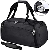 NEWHEY Sports Gym Duffel Bag with Shoe Compartment Waterproof Travel Holdall Large Sports Bag for Men Women 40 L