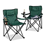 Relaxdays 10020934_46 Chaise de Camping Mixte Adulte, Noir