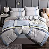 inforwarm Kissenbezug Home Textiles Warm Solid Color Double Bedding Sets Skinly Sets Four Sets of Double Beds-Jane Eyre_Quilt 200 * 230cm Microfaser
