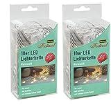 Idena LED Lichterkette Micro 10-er, für Innen, Länge 2,40 m, warmweiß 31116 [Energieklasse A++] (2)
