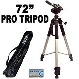 Professionelles PRO 183 cm super starkes Stativ mit weicher Deluxe Stativ-Tragetasche für die Canon Digital EOS Rebel T3 (1100D), T3i (600D), T1i (500D), T2i (550D), XSI (450D), XS (1000D), XTI (400D), XT (350D), 1D C, 60D, 60Da, 50D, 40D, 30D, 20D, 10D, 5D, 1D X, 1D, 5D Mark 2, 5D Mark 3, 7D Digital SLR Cameras