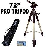 Profesional Pro 183cm super fuerte trípode con suave Deluxe–Bolsa de Trípode para la JVC GC de WP10Videocámara
