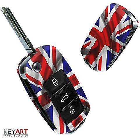 La cobertura de la llave de SEAT VW SKODA con Diseño Union Jack