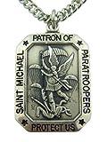 Sterling Silber 1St. Michael schützen Uns Fallschirmjäger Medaille