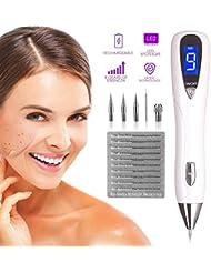 Muttermal Entfernung Stift, Removal Pen USB aufladbar, Altersflecken Entfernen Maschine mit, 9-Stufen-Intensität für Muttermal, Tattoo, Sommersprossen