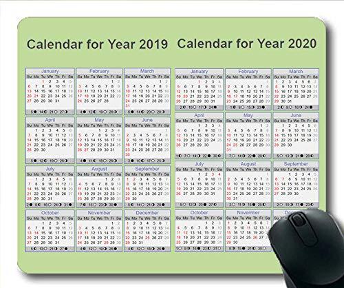 Yanteng Alfombrilla de ratón Calendario 2019 para Juegos, Almohadilla de ratón Calendario...