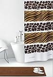 Duschvorhang Savanne Afrika Zebra- & Giraffe Textil 120cm breit x 200cm lang inkl. Ringe
