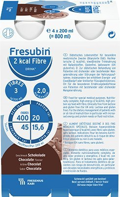 Fresubin 2kcal DRINK fibre Schokolade, Trinknahrung, 24 x 200 ml