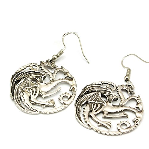 (J & C Family Owned Game of Thrones Targaryen Insignia baumeln Ohrringe in Geschenkbox)