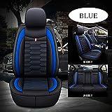 Nuova sede di quattro stagioni coperchio universale, resistente all'usura cuscino sedile in pelle traspirante e confortevole, anti-scivolo sedile All-Inclusive,Blu