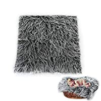 Newborn Shaggy Photography Mat,50x50cm Baby Photo Prop DIY Blanket Infant Soft Photography Backdrops Rug for Baby Boys Girls