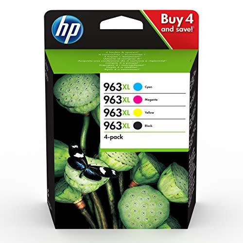 HP 963XL (3YP35AE) Multipack Original Druckerpatronen mit hoher Reichweite (für HP Officejet Pro 9010, 9012, 9015, 9016, 9019, 9020, 9022, 9025) schwarz, rot, gelb, blau -