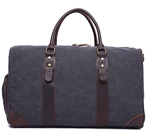 Xinmaoyuan uomini borsette tela con capacità di grandi dimensioni in stile retrò della sezione diagonale portatile borsa da viaggio Borsa maschio,verde Grigio scuro