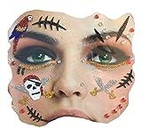 Gesichts Tattoo Face Art Halloween Karneval Pirat