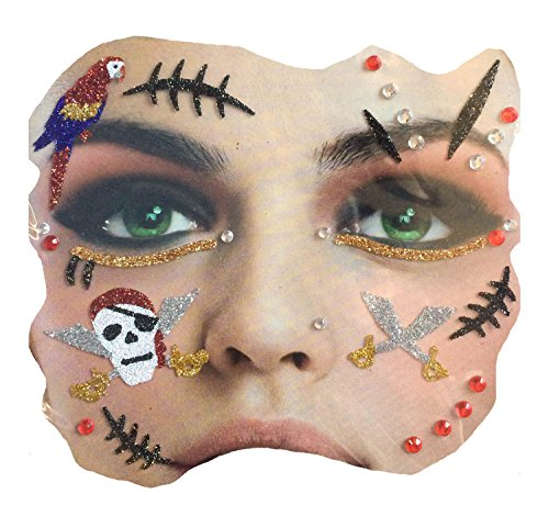 Gesichts Tattoo Face Art Halloween Karneval Pirat