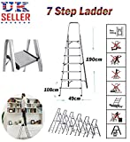 Siky 3 Stufenleiter mit klappbarer Sicherheit, Aluminium Tragbare Trittleiter, rutschfest, strapazierfähig, belastbar bis 150 kg