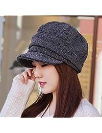 Sombrero de Mujer el otoño y el Invierno Engrosamiento de Lana de Punto  Sombrero de Moda Octogonal Sombrero Pintor Gorra Sombrero… 2cb24d7cf70