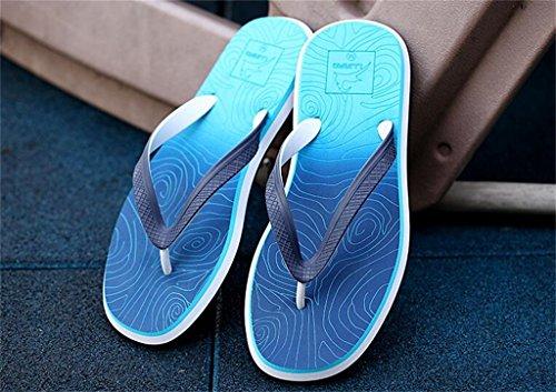 ALUK- Sommer Sandalen - Casual Anti-Rutsch Männer bequeme Verschleiß-resistenten Hausschuhe Strand Schuhe ( Farbe : Blau , größe : 44 ) Blau