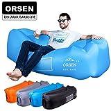 ORSEN Luft Sofa Aufblasbare lazy lounger Air Sofa Bed mit Mit Kissen für Reisen, Camping, Strand, Park, Backyard,Hinterhof