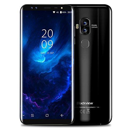 Smartphone Libre, Blackview A10 Moviles Libres Baratos de 5.0'' HD IPS 3G Android 7.0, 8MP Cámara Trasera y 5MP de Frontal Móviles, 2GB RAM 16GM ROM, 2800mAh Batería, Dual Sim, Huella Dactilar, GPS,Radio FM- Negro