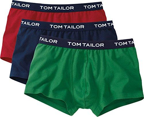 Tom Tailor, Costume da Bagno Uomo (Pacco da 3) rot/blau/grün