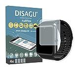 Disagu AsiaLONG Sport Smartwatch Schutzfolie - 4 x FullFlex Folie für AsiaLONG Sport Smartwatch Displayschutzfolie (bewusst Kleiner als Das Display, da Dieses gewölbt ist)