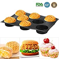Baker Boutique Silicone Non Stick Baking Liners Mat Perforated Bread Buns Mold 8 Cavities