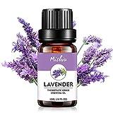 KOBWA 10ML d'huile Essentielle de Lavande 100% Pure Extraits de Plantes ingrédients naturels aromathérapie huiles essentielles pour Spa de Massage Parfum Mélange de Nettoyage Air Freshing