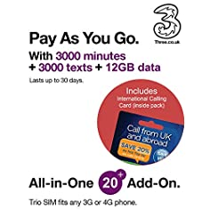 Three UK All in one 20 PAYG...