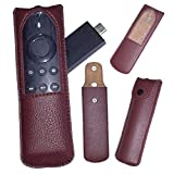 #6: Zaoma Protective Case for Amazon Fire TV Stick (Voice Remote Version) Controller, Compatible with Amazon Echo/Echo Dot Alexa Voice Remote - Premium PU Leather Cover Holder, Rich Brown