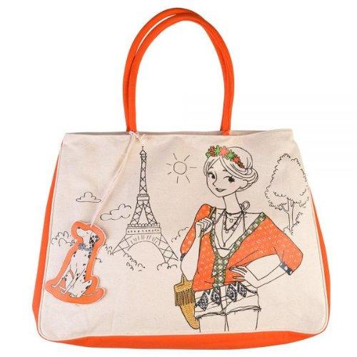 Cabas coton 'Parisiennes hype'