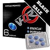 V-QR Potenz Komplex, 6 Tabletten extra starke Dosierung, natürliches Potenzmittel für aktive Männer, der all in one Booster.