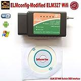 OTKEFDI ELM327 WiFi, ELM-327 WiFi modificato Elm 327 WiFi Switch-HS-Can e MS-Can ELM327 WiFi Config OBD Self Diagnostic Tool
