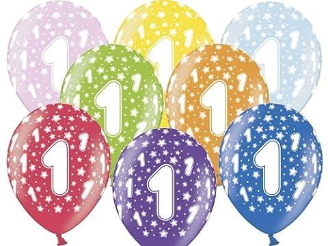 12 Luftballons 30 cm zum 1. Geburtstag - Kindergeburtstag Ballon - Kleenes Traumhandel® (1 Kindergeburtstag)