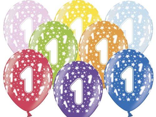 12 Luftballons 30 cm zum 1. Geburtstag - Kindergeburtstag Ballon - Kleenes Traumhandel®