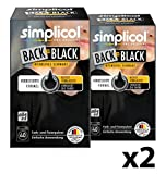 simplicol Farberneuerung Back-to-Black, Schwarz, 2er Pack: Farbauffrischung und -Erneuerung in der Waschmaschine, Hautfreundlich, All-in-1, komplette DIY Färbemischung mit Textilfarbe für Stoffe [2018er Version]