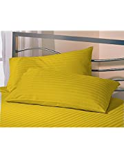 "AVI Set 2 Microfiber Pillow with 2 Pillow Cover Standard Size, Golden (17 * 27"")"