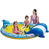 Banzai Inflatable Children's Pool Whale with Slide 224 x 165 x 61 cm
