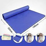 LQQGXL Fitness, Plus Größe 200cm Doppel-Yoga-Matte Verdickung 15mm Breit 130cm Yogamatte Fitness-Matte Rutschfeste Tanzmatte (Farbe : G, Größe : 15mm)