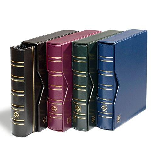 �nzalbum Optima Classic | Inkl. 10 Optima Münz-Hüllen für Ø 42, 27, 20, 34 mm und 2 Deckblätter | Mit Schutz-Kassette | schwarz ()