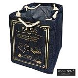 Aufbewahrungstasche PAPER / Recyclingtasche für Altpapier im toolen Jeans Look / 47x34x34 cm / mit praktischem Kordelzug