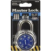 Masterlock 1503EURD Candado de Combinación de Acero Inoxidable, Multicolor
