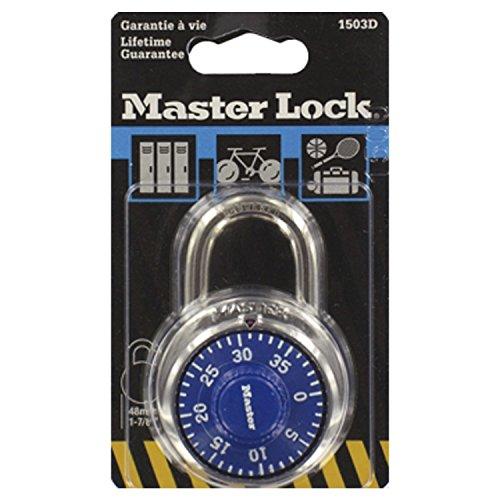 Master Lock Rundes Zahlenschloss 48 mm - Farblich Sortiert, 1503EURD -