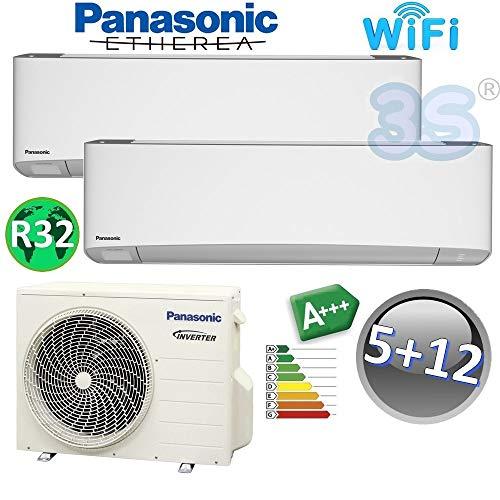 Klima DUO Split raumklimagerät R32 PANASONIC WiFi Klimaanlage 1,6+3,5 KW A+++