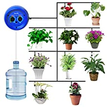 Aqualin DIY Micro Drip Irrigation Kit Watering Computer Irrigation System Controller for 10 Indoor Potted Plant, Rechargeable