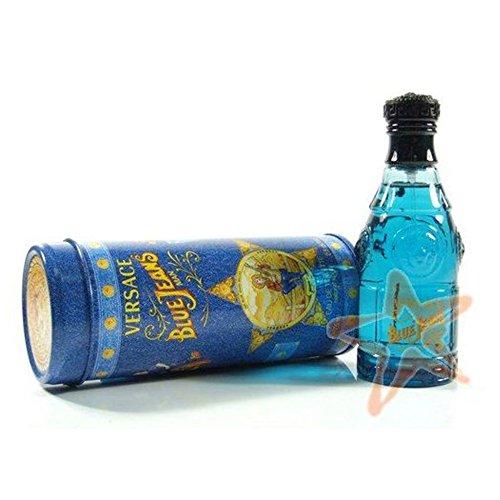Neuf Versace Blue Jeans 75 ml Eau de toilette en flacon vaporisateur pour homme