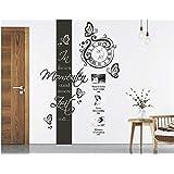 Kuletieas Schwarzer Hunter Wildlife Deer Designer Riesen Wanduhr Jagd Hobby Bio B/är Wildschwein Profil Zimmer Wand Kunst Deco Uhr-27inch