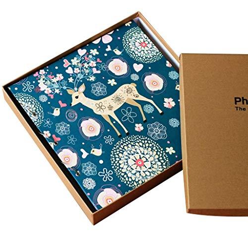 IF.HLMF Fotoalbum Pu Rahmen Cover 1000 Taschen halten 4 X 6 Fotos, Baby Growth Memorial Album Fotos Tourismus Liebe (Farbe: Farbe 2, Größe: 36,5X33,5 cm) -